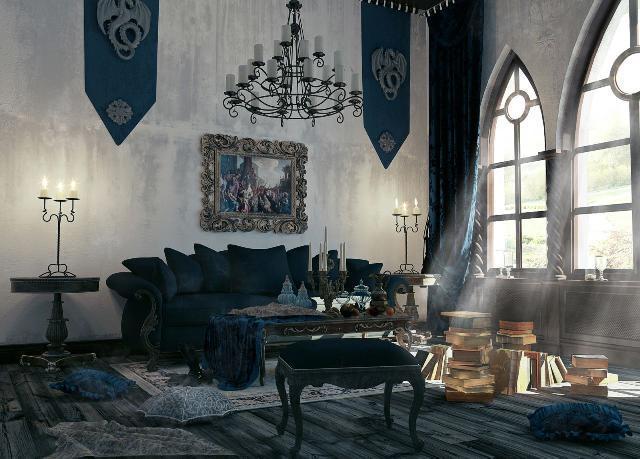 Desain Interior Mewah dan Elegan Dengan Gaya Ghotik